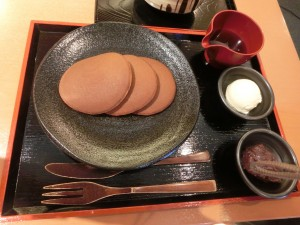 松﨑煎餅お茶席 和風パンケーキ