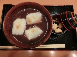 松﨑煎餅お茶席 ぜんざいセット