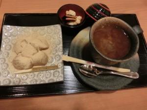 銀座 和カフェ わらび餅セット