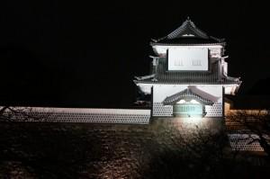 ライトアップされた金沢城公園