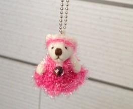バレエ チュチュを着たクマのチャーム