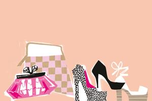 靴やバッグのイラスト