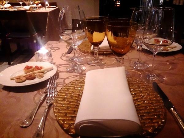 リストランテ グリーゼ テーブル