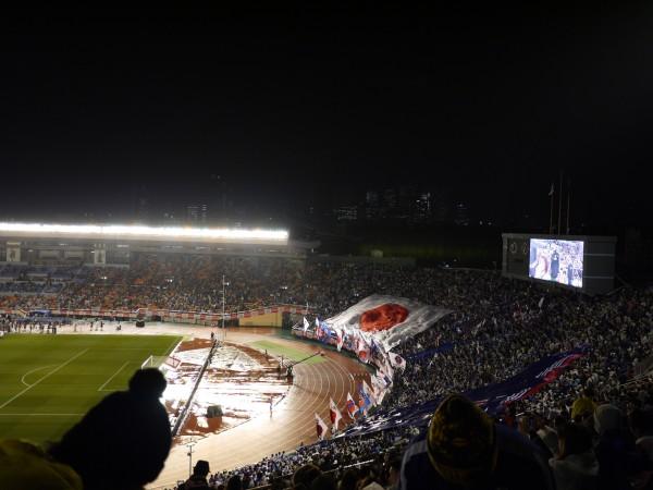 国立競技場 日本代表選手の入場