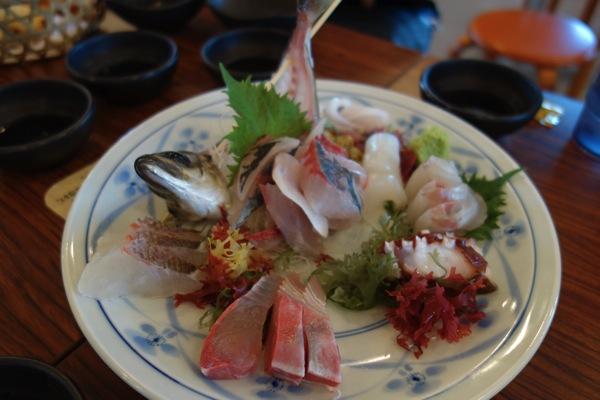 新鮮な魚のお造り