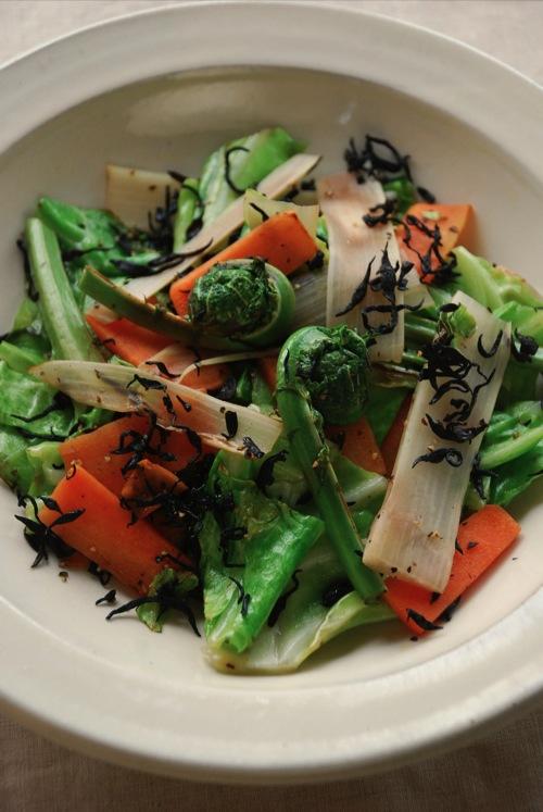 芽ひじきの野菜炒め