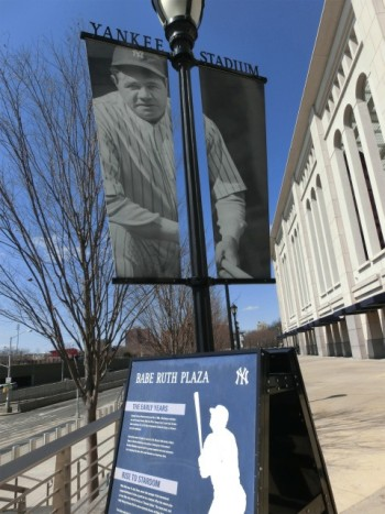 ヤンキーズスタジアム ベイブルースの写真