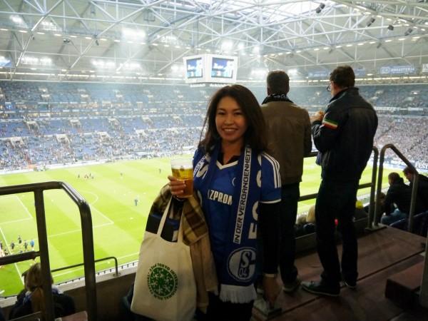 FC Schalke 04 ホームスタジアムでのちょこみみさん
