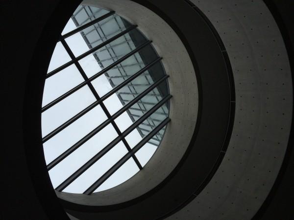 西田幾多郎記念哲学館 中から見る窓