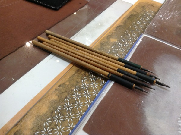 友禅型紙彫刻 道具