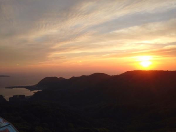 稲佐山から見る夕日