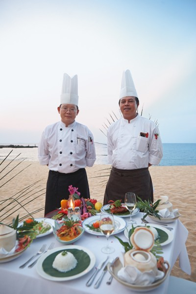 海辺ディナー