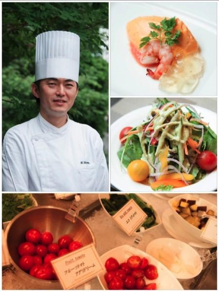 庭のホテル東京 料理長とランチ