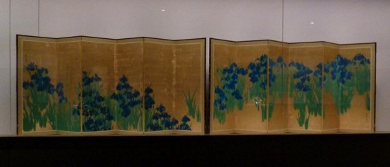 燕子花図屏風と藤花図屏風