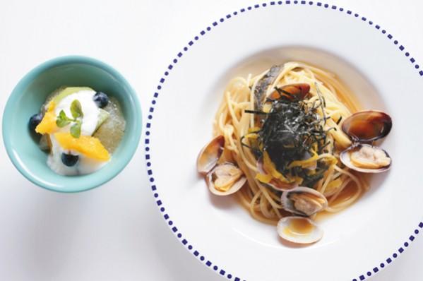 発酵パワー1週間:火曜昼食 古漬け高菜のパスタ