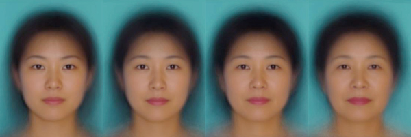 20代から50代の女性の顔