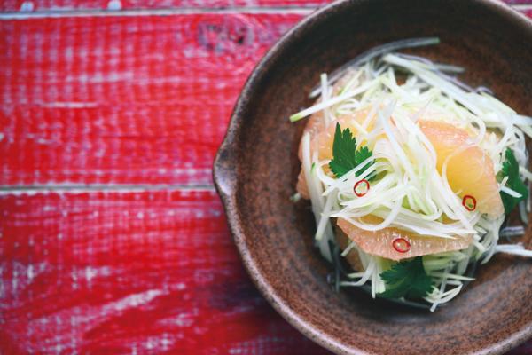 乳酸菌を育てるレシピ①/腸に効く、食物繊維&クエン酸豊富なフルーツサラダ:その1