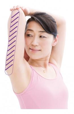 二の腕の裏側を伸ばす運動