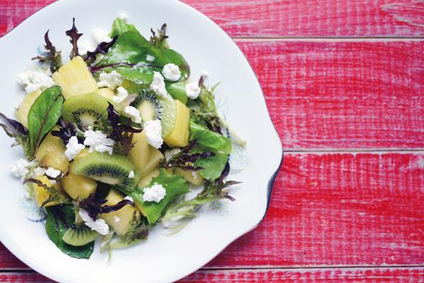 乳酸菌を育てるレシピ②/腸に効く、食物繊維&クエン酸豊富なフルーツサラダ:その2