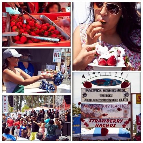 イチゴ祭りの様子