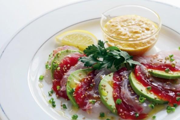 タンパク質ベースの「ブレインリフォーム・レシピ」 ②マグロ、鯛、アボカドのカルパッチョ