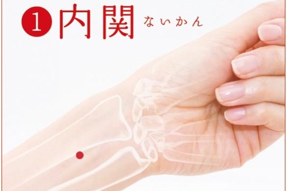 胃のムカムカ、不快感に効くツボ – 内関(ないかん)