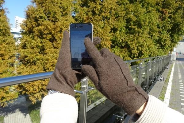 冷え性さんに朗報!スマホ対応カシミア手袋、作りました