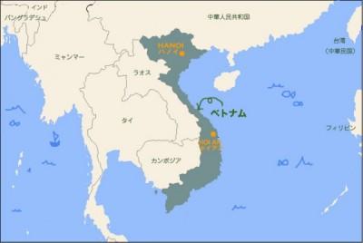 井原さん ベトナム地図