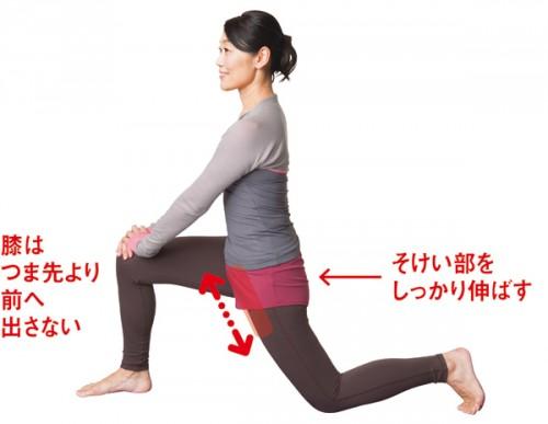 股関節 腸腰筋のばす