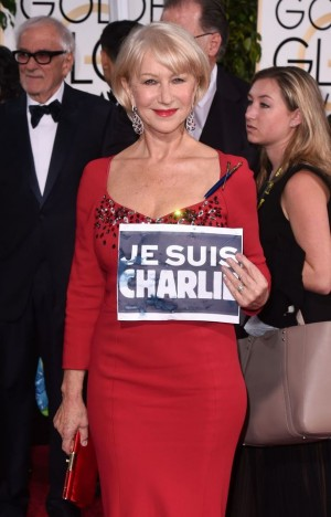 中島さん_GG賞_Helen-Mirren-Je-Suis-Charlie-as-she-attends-the-72nd-Annual-Golden-Globe-Awards-at-The-Beverly-Hilton