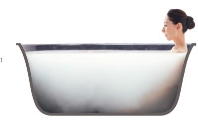 ミクロの酸素の泡が溶け込んだミルキーな酸素美泡湯は、肌当たりもやわらか
