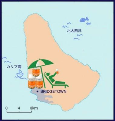 井原さん カリブ地図