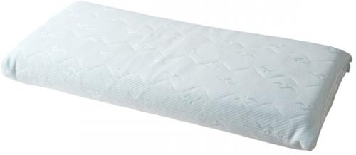 高さ調整素材を加減して、5㎜単位で好みの高さにコントロール。理想の寝姿勢とスムーズな寝返りを実現します。ストレッチピロー(カバー付き)¥23,000/丸八グループ