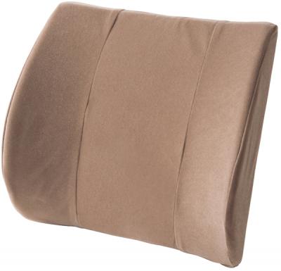 腰部を包み込むように支える背もたれパッド。背骨の自然なカーブを保持。長時間座っても腰椎への負担が少なく、腰痛を予防。バックハガー ヨーロピアン ¥6,300/江崎器械