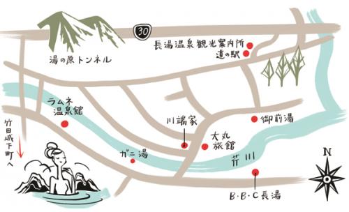 こだわり温泉 長湯温泉 地図