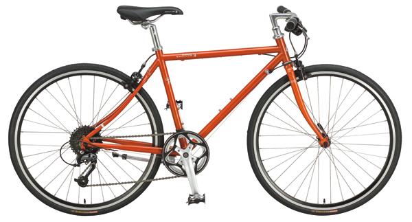 ¥68,000 サイズ:フレーム440㎜、470㎜、510㎜、550㎜、タイヤ650×25C カラー:ベージュ、オレンジ(写真)、パープル 重量:10.8㎏ ※台数限定生産