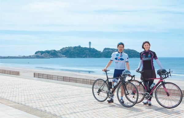 現在二人は湘南に暮らし、ロードバイク専門店を経営。週末には女性を含む初心者向けの、食と走りを満喫できる「湘南自転車ツアー」を開催するなど、自転車の楽しさを伝える活動をしています