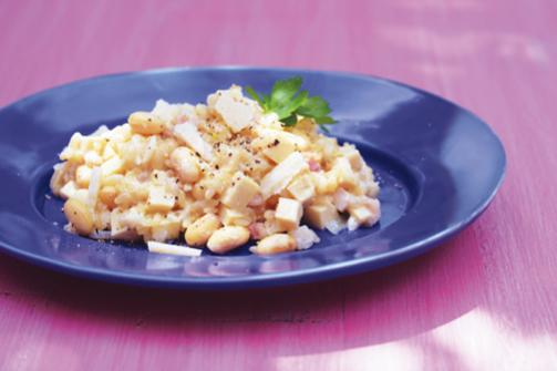 栄養たっぷり「オイルビーンズ」で脳を元気に!④大豆と高野豆腐のリゾット