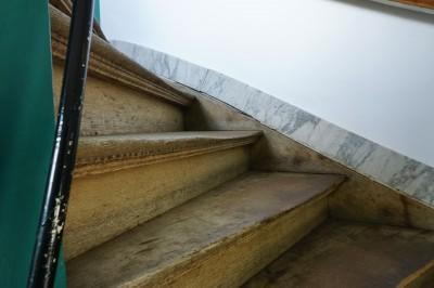 井原さん huise 木の階段