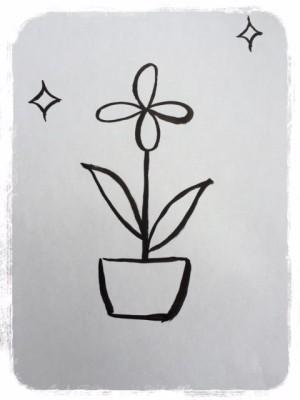 樫出さん 生き返った花