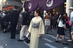 銀座で着物あそびをして、歌舞伎観劇へ。