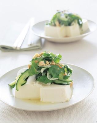 豆腐 きゅうりと豆腐