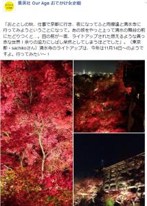 投稿・清水寺夜景