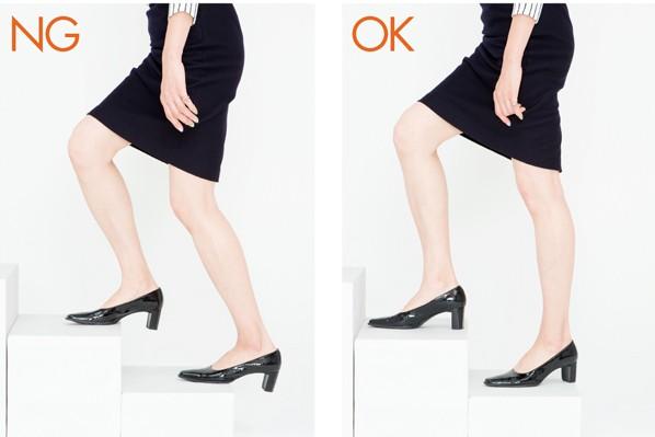 「美ウォーキング」で筋力アップ!/かかとの高い靴で歩く際の注意点