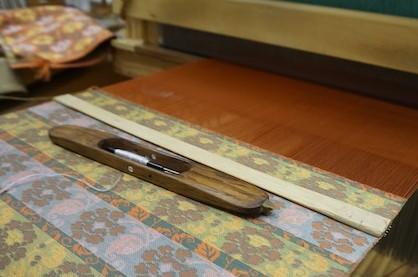 伝統工芸士の織り手が使う高機(たかはた)体験 「光峯錦織工房」