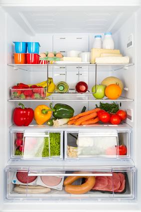 filled refrigerator