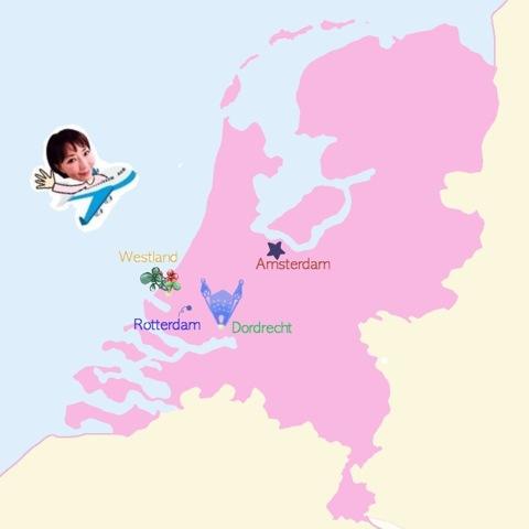 井原さん オランダ地図