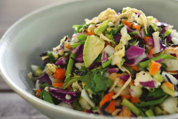 庄司いずみさんの「ごちそう美腸サラダ」/切り干し大根とひじきを使った「チョップサラダ」