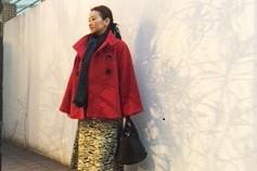 美術館を訪れる日は、ロッカーに預けやすいコートとバックで身軽に