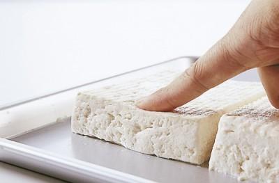 豆腐の水切り ねっとりトロトロ 指押し